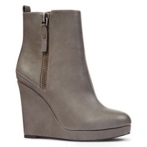 Nine West wedge bootie